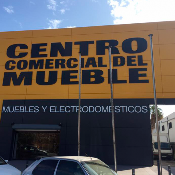 centro comercial del mueble rotulo fachada anuncios luminosos torres
